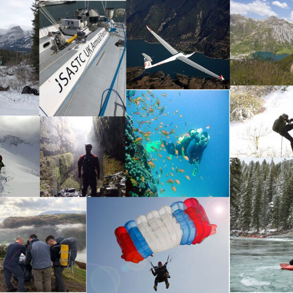 A montage of photographs showing activities covered by the ATSR.